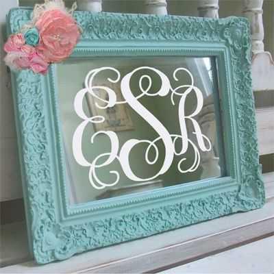 Diy Monogram Mirrors