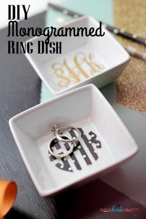 Diy Monogram Ring Dish