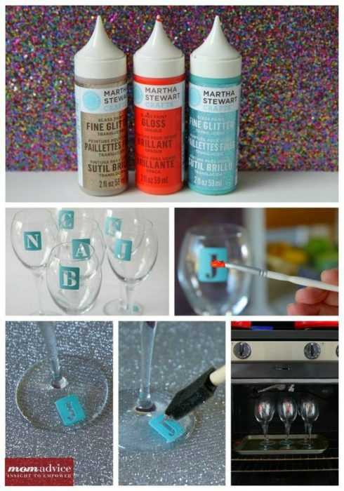 Diy Monogram Wine Glasses