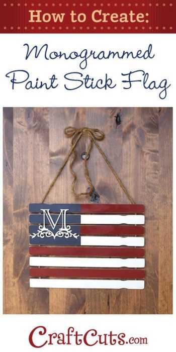 Diy Monogram - Paint Stick Flag