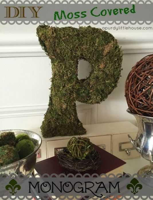 Moss Covered Diy Monogram