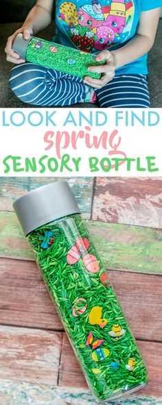 Sensory Bottles Spring