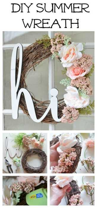Charming DIY Spring Projects - summer wreath