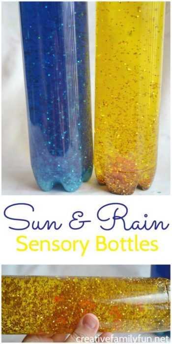 Sensory Bottles Sun And Rain