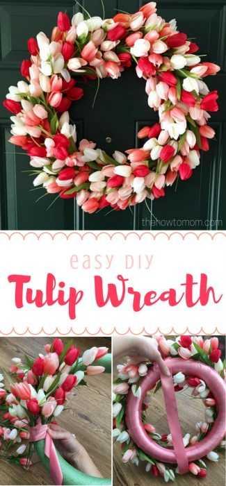 Charming DIY Spring Project - tulip wreath