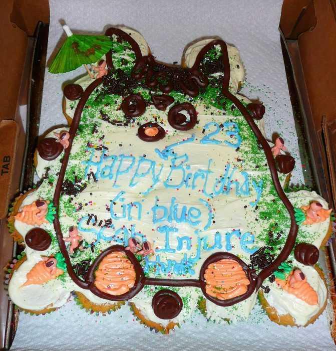Funny cake fail - scar injure...