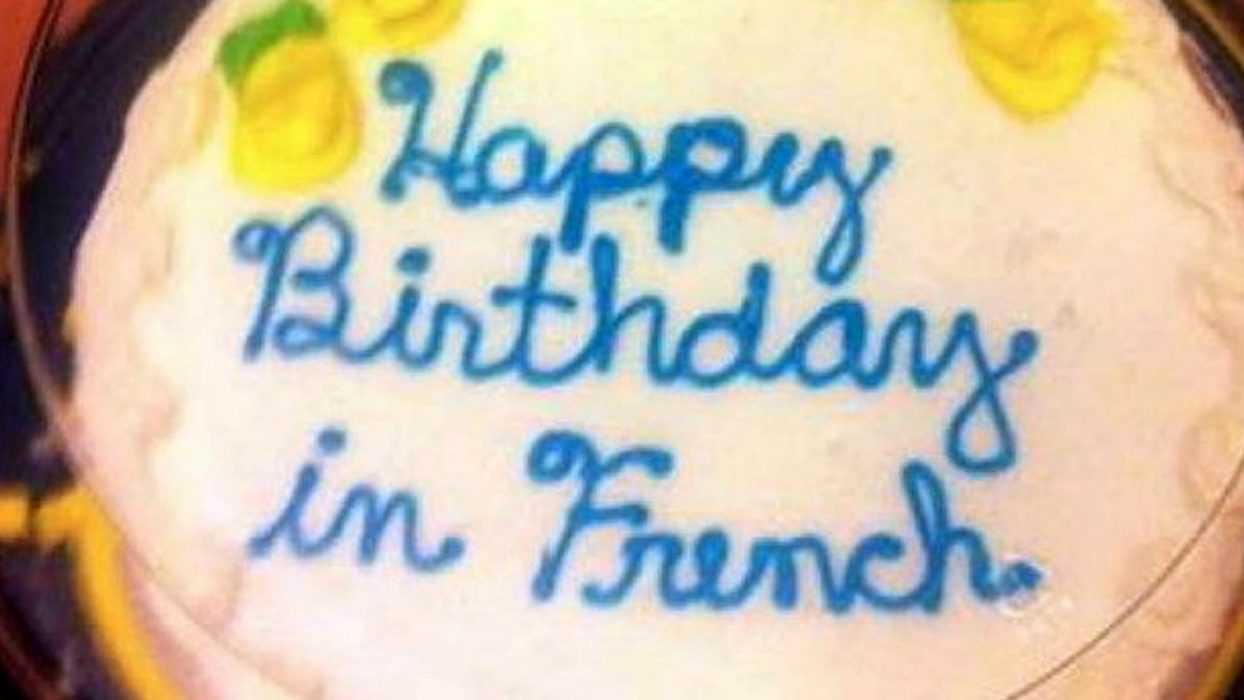 Funny cake fail - in French