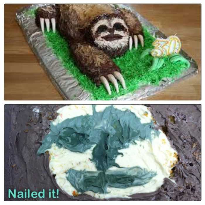 Funny cake fail - is that a sloth