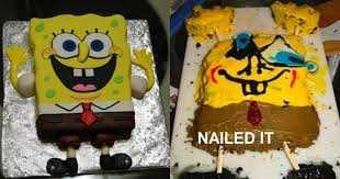 Funny Cake Fails - sponge bob