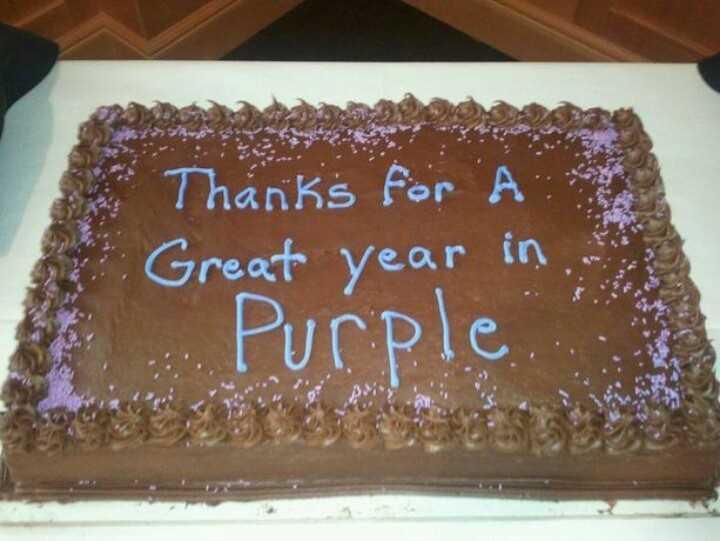 Funny cake fail - in purple