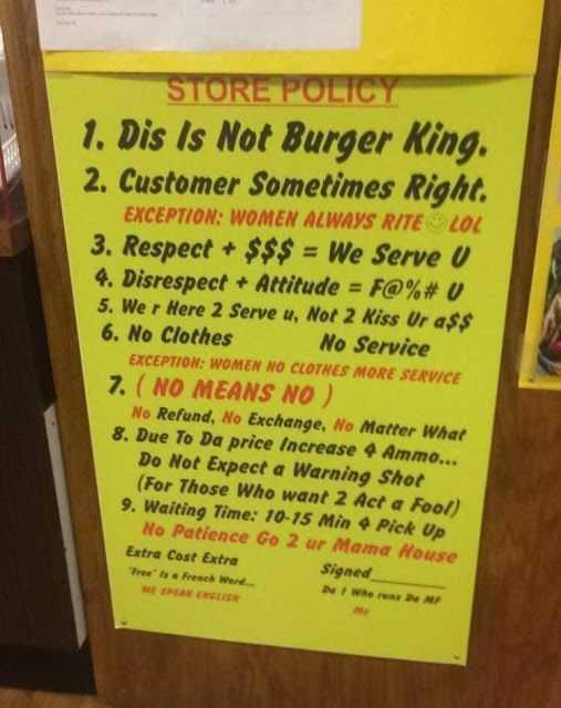 Hilarious Business Signs - Burger King