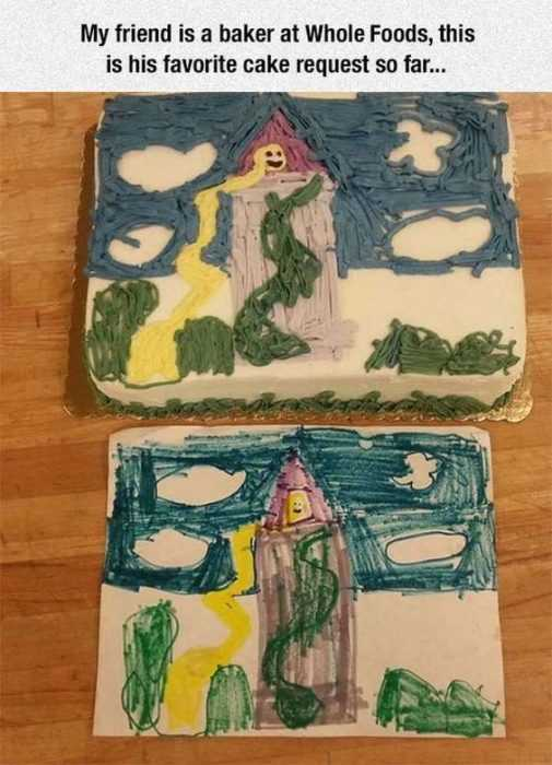 Hilarious Funny Pictures - Child's Painting Cake