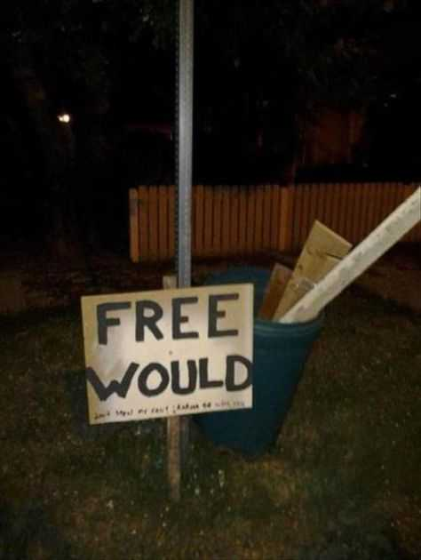 funny sign fail - woodchuck would chuck wood