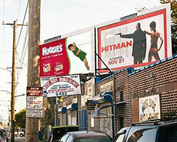 Funny Sign fail - that hitman should be proud