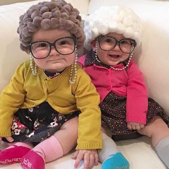 Funny Kid Pictures - pretend grandma