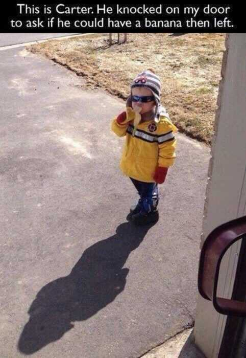 Funny Kid Pictures - banana