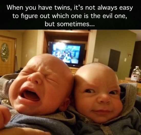 Funny Kid Pictures - evil twin