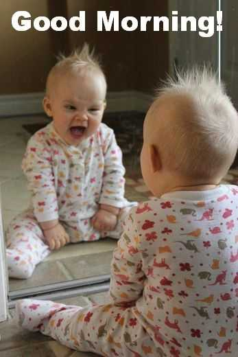 Funny Kid Picture - good morning