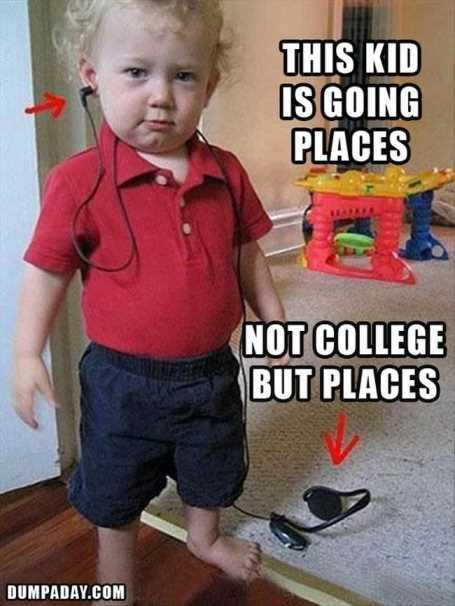 Funny Kid Pictures - going places