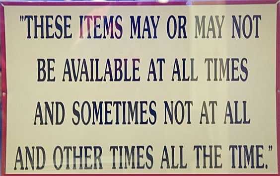 Funny Store Signs - Covering Bases