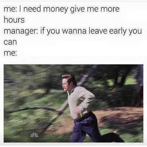 Funny Retail Worker Images - leaving