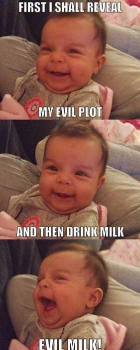 Funny Kid Pictures - evil plot