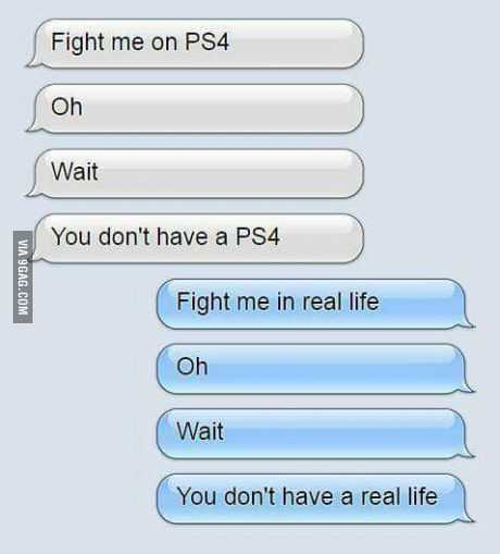 Hilarious Funny Pictures - Them Fighting Words