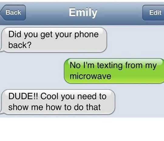 Hilarious Funny Pictures - Texting From Microwave!