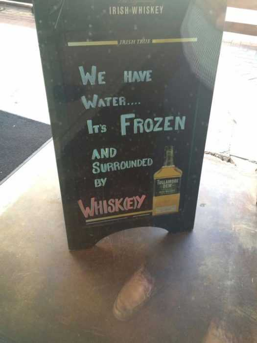 Funny Store Signs - Serving Water