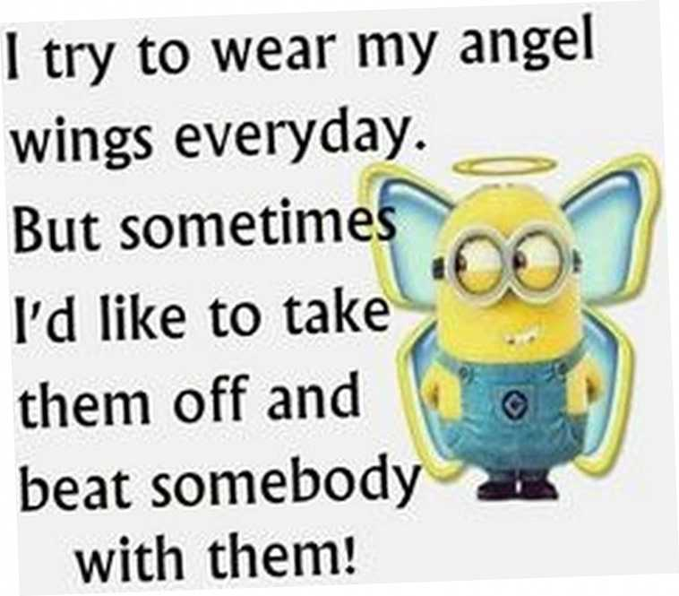 Really Funny Minion Quotes - Angel Wings