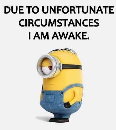 Minion Wisdom Quotes - Awake