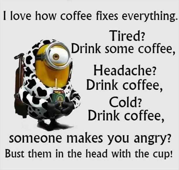 Funny Minion Quotes - Coffee