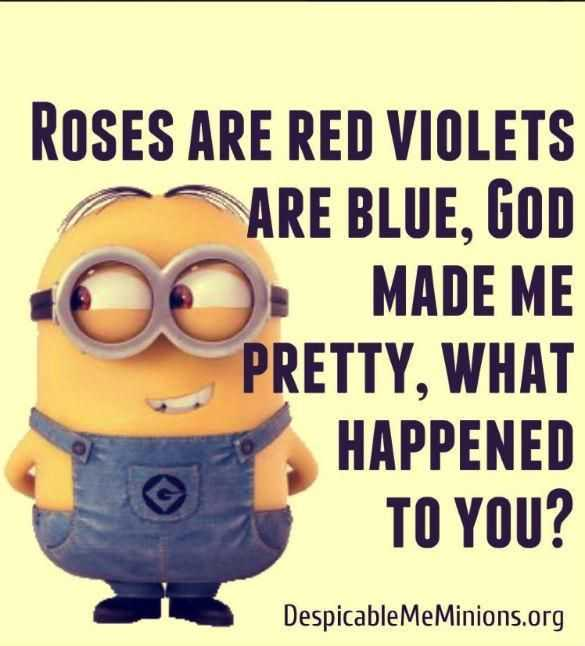 Funny Minion Quotes - Roses
