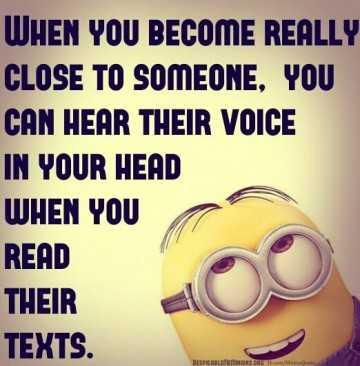 Sarcastic Minion Quote - Close To Someone