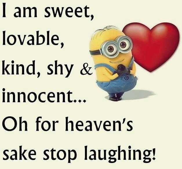 Sarcastic Minion Quote - Sweet
