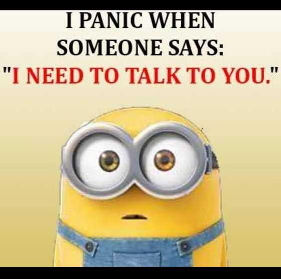 Sarcastic Minion Quote - Panic