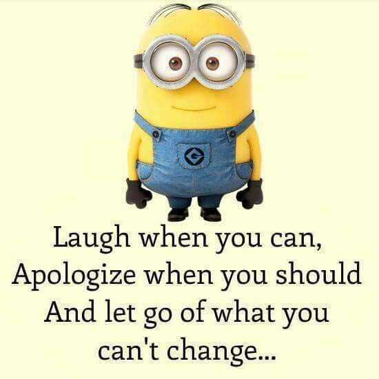 Minion Wisdom Quotes - Laugh