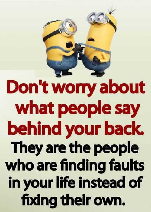 Minion Wisdom Quotes - Don't Worry