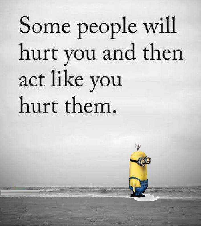 Funny Minion Wisdom Quotes - Hurt