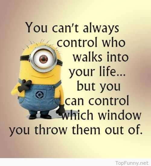 Sarcastic Minion Quote - Control