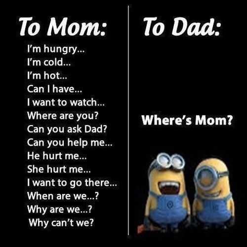 Funny Minion Quotes - Mom And Dad