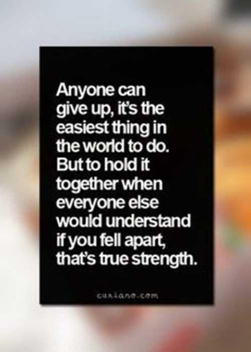 Inspiring and Motivational Quotes - true strength