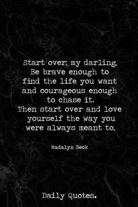 Beautiful Quotes About Life - start over