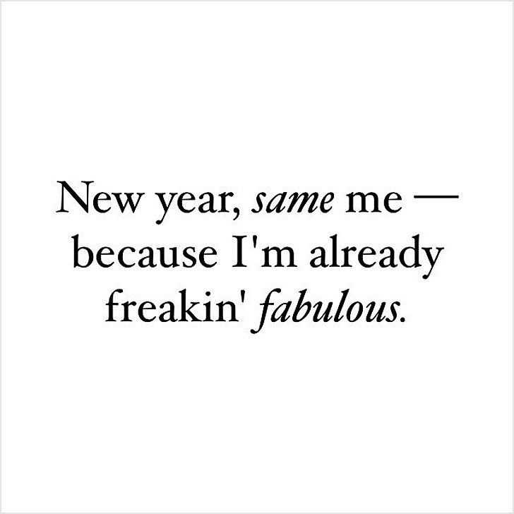 funny social share quotes - new year resolutions