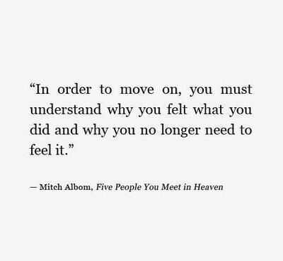 Wonderful Quotes - moving on