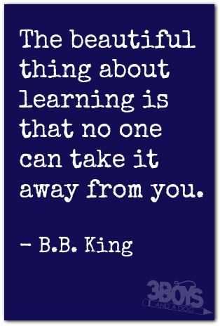Inspiring and Motivational Quote - learning
