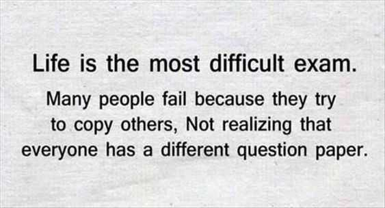 Beautiful Quote About Life - difficult exam