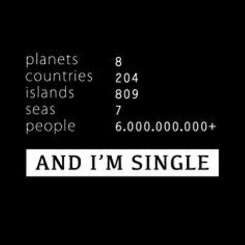funny social share quotes - being single