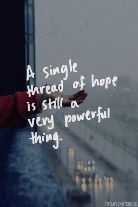 Great Quotes - Thread Of Hope