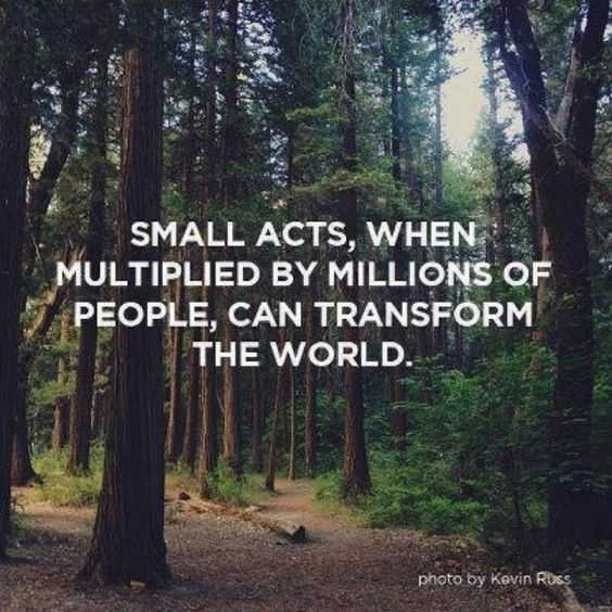 Wonderful Quotes - small acts